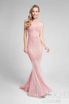 Terani Prom - Elegant Beaded High Neck Polyester Mermaid Gown 1712P2450