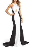 La Femme Women's Colorblock Mermaid Gown