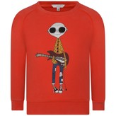 Little Marc Jacobs Little Marc JacobsBoys Red Mister Marc Sweater