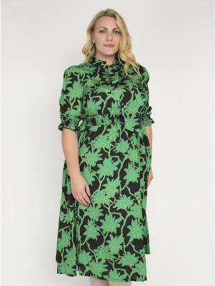 M&Co J by Jolie Moi print tie neck midi dress
