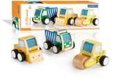 Guidecraft Jr. Plywood 3-pc. Construction Vehicles Set