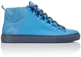 Balenciaga Men's Sprayed Suede Arena High-Top Sneakers