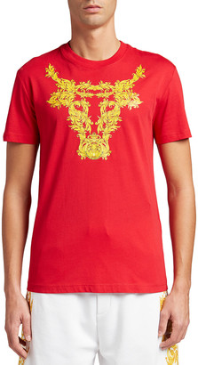 Versace Jeans Couture Men's Bull Graphic T-Shirt
