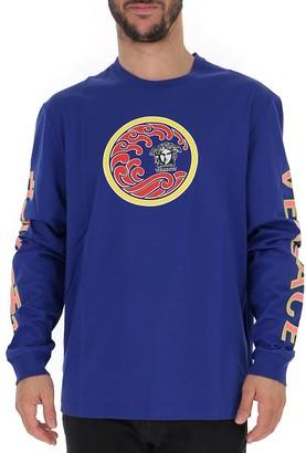 Versace Graphic Printed Long Sleeve Shirt