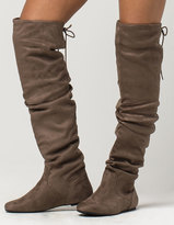 Soda Sunglasses Over The Knee Womens Slouch Boots