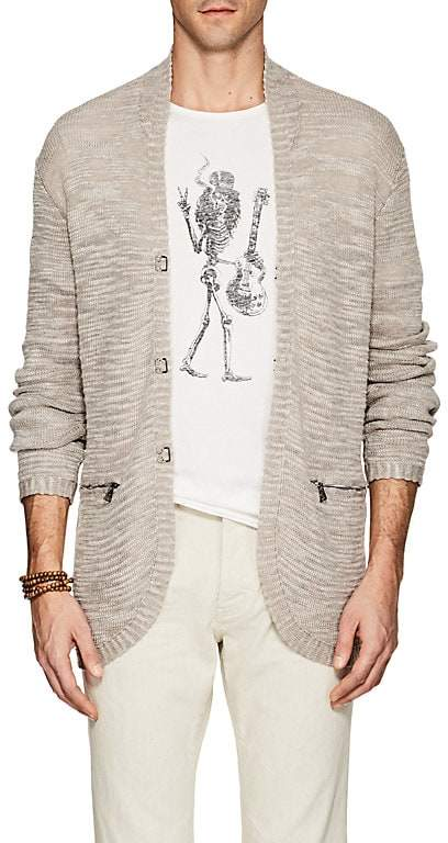 John Varvatos Men's Linen-Blend V-Neck Cardigan