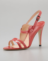 Manolo Blahnik Dodo Double-Band Patent Sandal