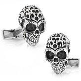 Sterling Fatale Skull Cufflinks