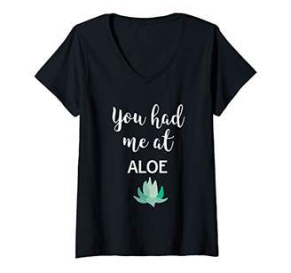 Alöe Womens Funny Succulent Plants Lovers Gift product V-Neck T-Shirt