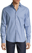 Michael Bastian Cotton Star Printed Button Down Sportshirt