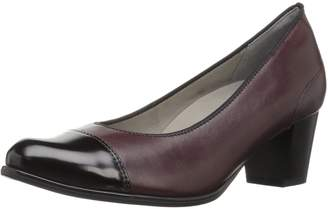 ara Women's Mckinley Dress Pump Burgundy Leather/Black Abrasivato Toe 8 M US