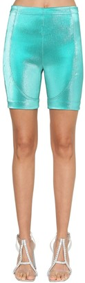 Area Stretch Lame Biker Shorts