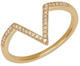 Lord & Taylor Diamond And 14K Yellow Gold Ring