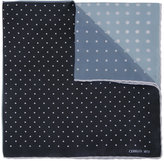 Cerruti polka dot checked scarf