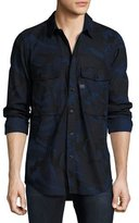 G Star G-Star Type C Camouflage Denim Utility Shirt, Blue
