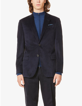 Emporio Armani G-line single-breasted velvet-twill blazer