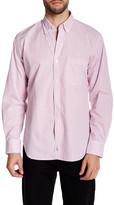 Tailorbyrd Fuschia Plaid Long Sleeve Woven Shirt