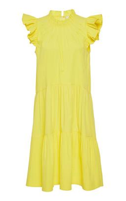 Sea Tabitha Ruffled Cotton-Blend Dress