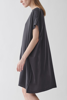 Cos Cotton-Mulberry Silk Relaxed Tunic Dress