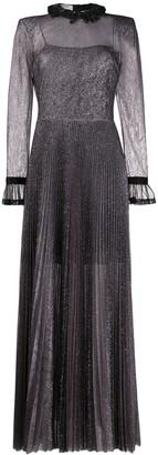 Philosophy di Lorenzo Serafini sheer metallized dress