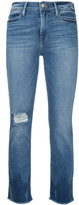 Frame raw edge cropped jeans