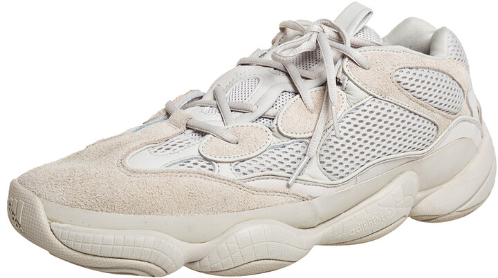 Yeezy x adidas Off White Mesh And Suede 500 Blush Sneakers Size 48
