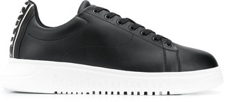 Emporio Armani Low Top Wedge Sole Sneakers