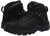 Timberland Flume 6 Steel Safety Toe Waterproof (Black) Men's Shoes