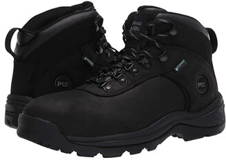 Timberland Flume 6 Steel Safety Toe Waterproof (Black) Men's Shoes