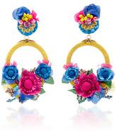 Ranjana Khan Multi Large Floral Drop Earrings