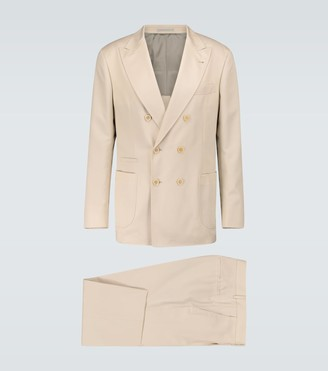 Brunello Cucinelli Leisure wool-blend suit