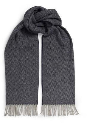Emporio Armani Herringbone Cashmere-Wool Scarf