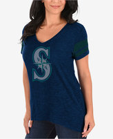 Profile Women's Seattle Mariners Check the Tape Plus Size T-Shirt