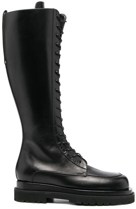 Magda Butrym Platform Sole Lace-Up Boots