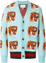 Gucci Tiger patch cardigan