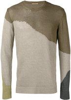 Roberto Collina colour block jumper - men - Linen/Flax - 50