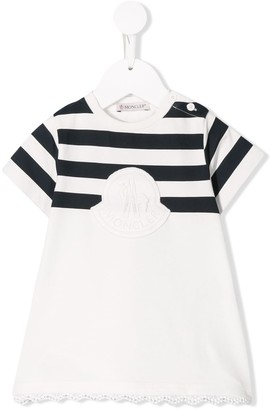 Moncler Enfant Stripe Detail Jersey Dress