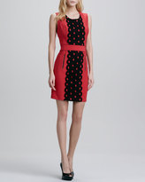 Tracy Reese Lace-Front Sleeveless Shift Dress