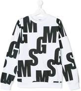 MSGM logo graphic print sweatshirt