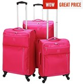 Revelation Revelation! Weightless Small 4 Wheel Soft Suitcase - Pink