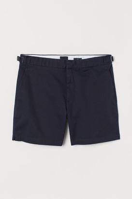 H&M Slim Fit Linen-blend Shorts - Blue