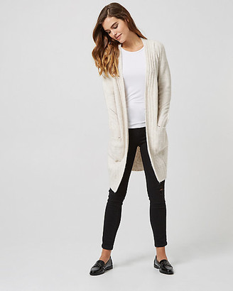 Le Château Rib Knit Open Front Cardigan