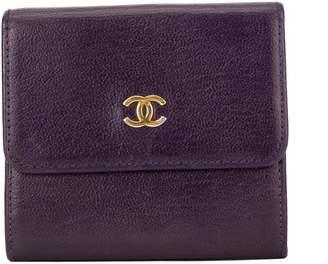 Chanel Purple Calfskin CC Bifold Wallet (3989008)