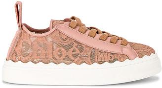 Chloé Lauren Lace Sneakers in Pink Tea   FWRD