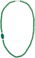 Judith Ripka Oval Slice Beaded Statement Necklace, Green