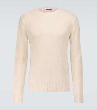 Ralph Lauren Purple Label Silk and linen blend crewneck sweater