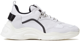 IRO Curve Runner Leather, Suede And Mesh Sneakers