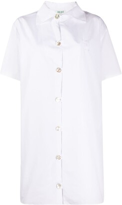 Kenzo Short-Sleeve Shirt Dress