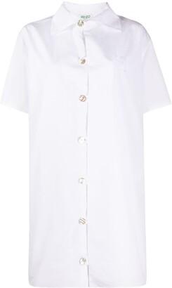 Kenzo Short-Sleeve Shirt Dress