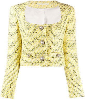 Alessandra Rich Tweed Cropped Jacket